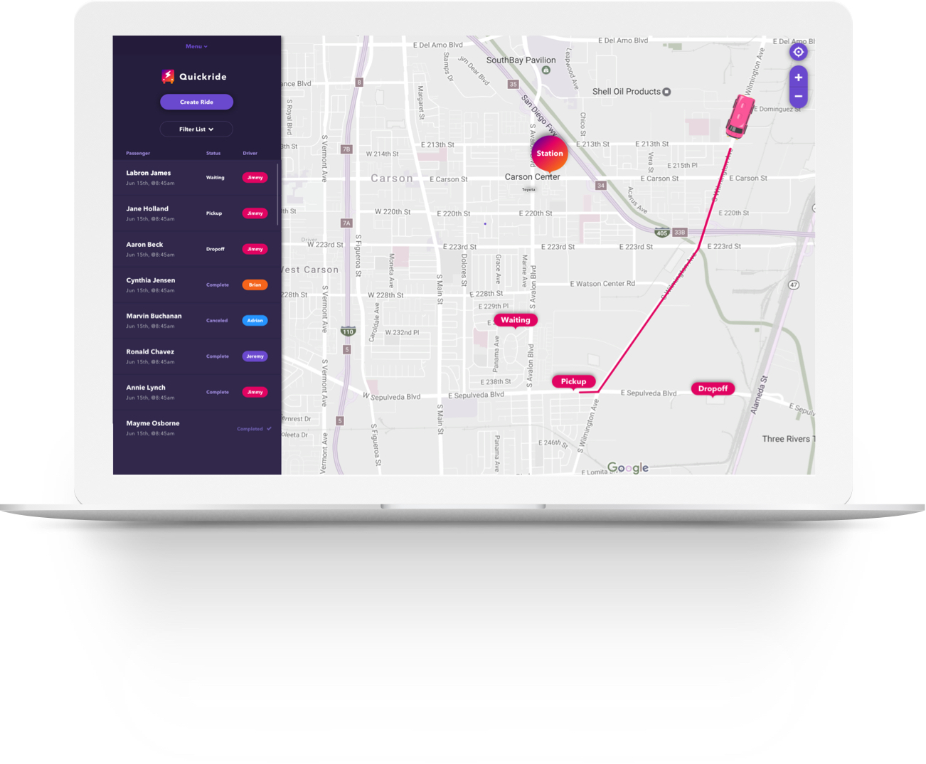 Quickride - Shuttle Service App for Service Directors and