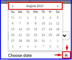 choose date