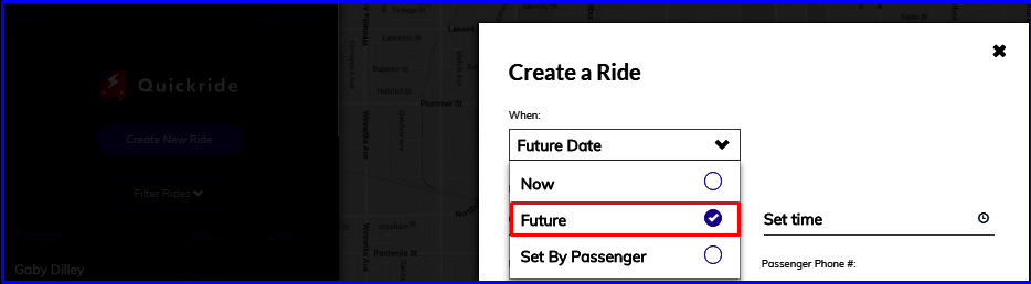 create a ride future
