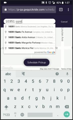 edit pickup location address